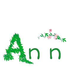 sfghandmade sticker stickers greenstickers ann name font flowers leaves picsarteffects freetoedit