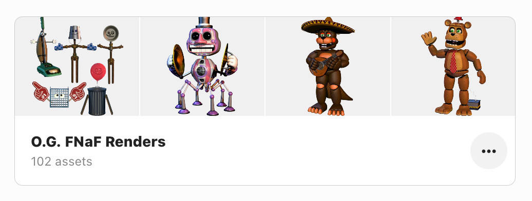 A collection of Scott Cawthon's #FNaF #renders
