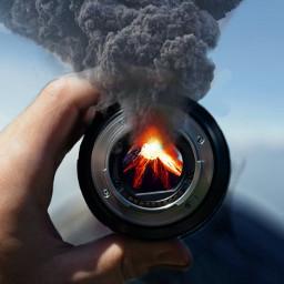 volcano eruption lava smoke ashcloud naturaldisaster freetoedit ircthroughyourprism throughyourprism