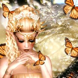 freetoedit mastershoutout butterfly nature fantasy