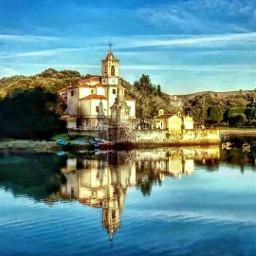 asturias hdr landscape church sea photography