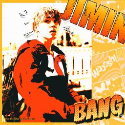 jimin parkjimin bts army freetoedit btsedit edit orange yellow cute handsome draw paint drawing background comic line