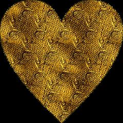 sfghandmade sticker stickers gold fabric goldtapestry heart goldheart picsarteffects freetoedit