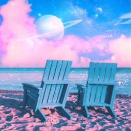 spaceart myart myedit beach sky freetoedit
