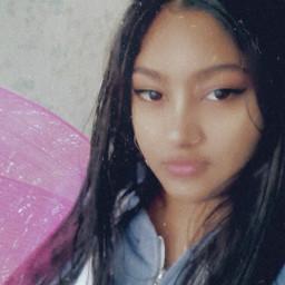 angel selfie fyp pink blue wings freetoedit