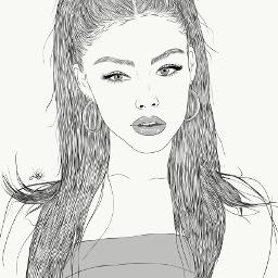 drawing outline sketch digitalart art outlineart digitaldrawing drawingart love creativity creative portrait girl madisonbeer madison beer freetoedit