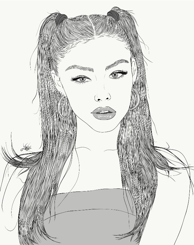 Who else love @madisonbeer (on Instagram)? Bc I do a lot! Here you have this new drawing of her hope y'all like this one!❤️🔥🥰😍  #drawing #outline #sketch #digitalart #art #outlineart #digitaldrawing #drawingart #love #creativity #creative #portrait #girl #madisonbeer #madison #beer
