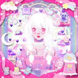 purpleclouds kawaii pastel girly sky srcpurpleclouds freetoedit