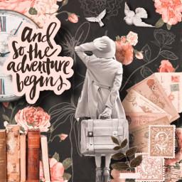 collage vintage retro adventure travel dreamer live freetoedit