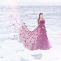 nobbscreative snow snowstorm weather lady beautifullady dress fashion gown hautecouture couture couturedress landscape effects light wind storms snowflakes pose posing ice fierce fiercewomen fierceandfabulous freetoedit