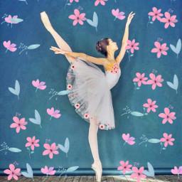 ballerina flower leaves freetoedit
