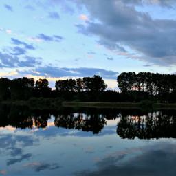 sky nature naturephotography trees reflection seeon bayern photography clouds pcmothernature mothernature