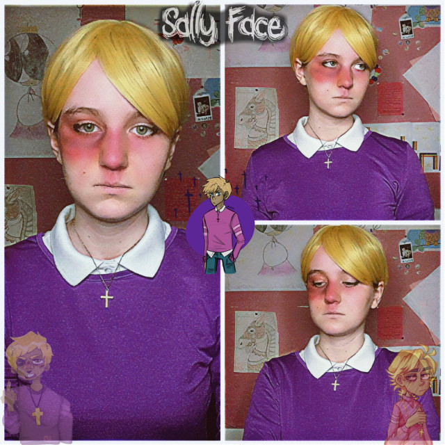 Travis Phelps✝️  GUYS I STARTED WATCHING SALLYFACE ON YOUTUBE-   Literally everyone i know has seen it and alot of my friends are obsessed with it so i caved and decided watch it-  I literally love it so much (ᗒᗣᗕ)՞  I already ordered a wig for sal ( ͡° ͜ʖ ͡°) I just gotta style it-  Anyways  Travis❤️   tiktok: weeblet101 I HIT 1k FOLLOWERS ON TIKTOK BTW-   #travisphelps #travisphelpscosplay #sallyface #sallyfacecosplay #cosplay #game #weeblet101 #cosplayer #idkwhattohashtag #yeet #homo