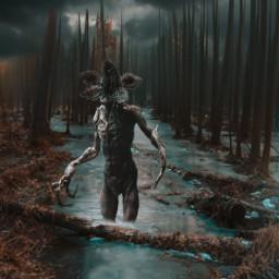 monster dark darkness forest horror horroredit freetoedit