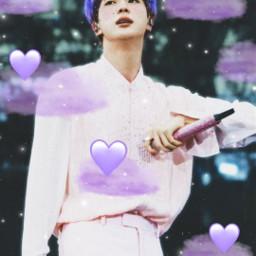 jin purplehair bts freetoedit srcpurpleclouds purpleclouds