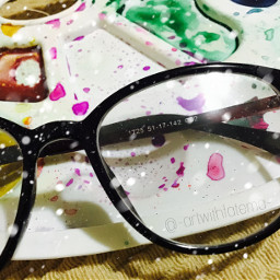 glasses creativity paint colorsplash havefunandenjoy