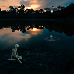 alien sunset hovyan freetoedit