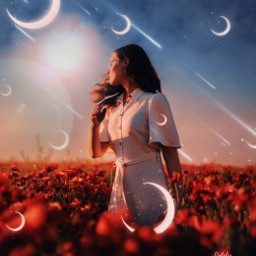 freetoedit remix picsart stars moon magical