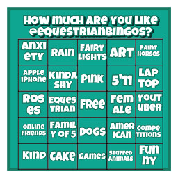 bingo equestrian equestrianbingos horses freetoedit