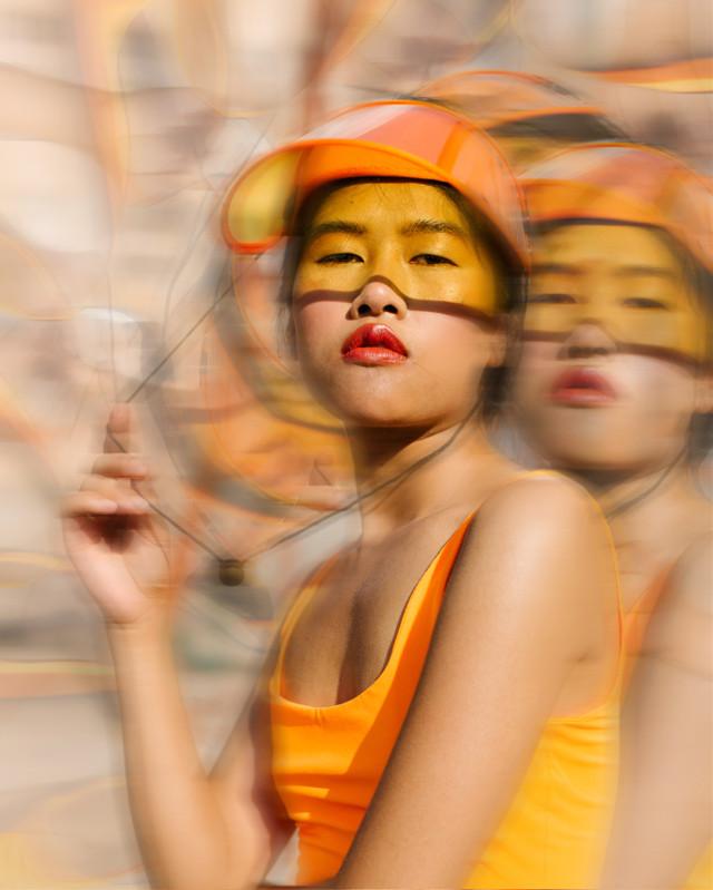 #girl #clone #summer #move #orange #девушка #движение #клон #лето #оранжевый