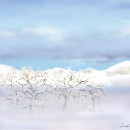 digitaldrawing mydrawing fog snow clouds drawing