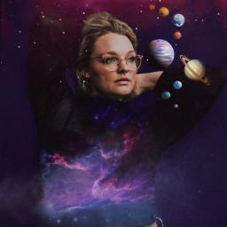 girl galaxy sky clouds myedits planet purple magic✨🌆 freetoedit magic