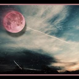 art photography supermoon pinkmoon skyandclouds horizon artist danalakat freetoedit