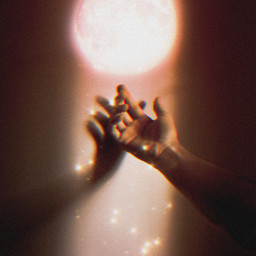girl aesthetic aestheticgirl pink glitter glow moon luna light stars estrellas rosa hand mano freetoedit