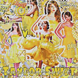 taylorswift taylor swift swiftie swifties tay taytay yellow taylorinyellow girl glitter glow honey gold dress complexedit edit complex goodvibes art creative remixit singer celebrity freetoedit