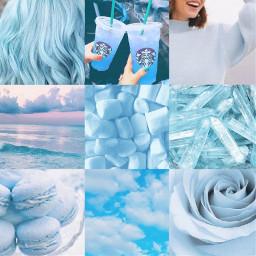 blue aesthetic rose pastel lightblue sea ocean waves calm sky clouds crystals macarons starbucksdrink jumper hair wavy marshmallows sweettreats collage beautiful firstpost newacc