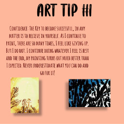 arttips confidence nevergiveup paintings snippets funtimes