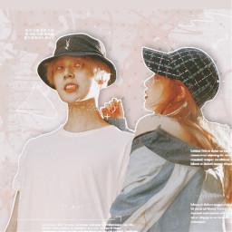 freetoedit tripleh hyuna edawn triplehhyuna triplehedawn vintageeffect aesthetic pastel kpop kpopidol