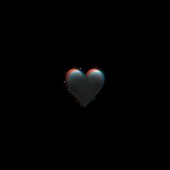 glitch emoji heart iphone iphoneemoji iphonesticker black blackheart glitchheart glitcheffect remix remixit aesthetic blackaesthetic freetoedit