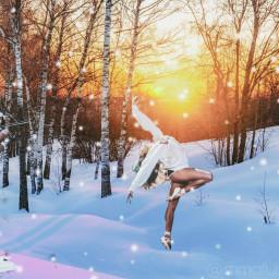 dancing music edit snow freetoedit