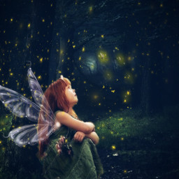 forest fairy firefly madewithpicsart picsartstickers editedbyme freetoedit