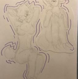 origionalart traditionalart sketch doodle myoc sheep figurestudy wip