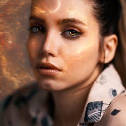 woman girl power art newedit edit myedit galaxy universe shine freetoedit