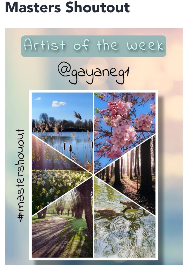 🌟MASTER SHOUTOUT TIME🌟  ARTIST OF THE WEEK PROFILE                      LINK🔻  https://picsart.com/gayaneg1  PRESENTATION by: @ruthy1  *You may remix as many of the artist's #freetoedit works as you like*  ⭐️⭐️⭐️⭐️⭐️⭐️⭐️⭐️⭐️⭐️⭐️⭐️⭐️⭐️  It's time for new Shoutout. Let's help our featured artist have an awesome week by visiting the artist's gallery with a ton of likes, remixes and nice comments and maybe even give a follow.   ▪️ Thank you for your continued support and participation in this project ▪️  ⭐️⭐️⭐️⭐️⭐️⭐️⭐️⭐️⭐️⭐️⭐️⭐️⭐️⭐️  #mastershoutout #artistiftheweek