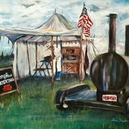 campfire camping painting acrylicpainting