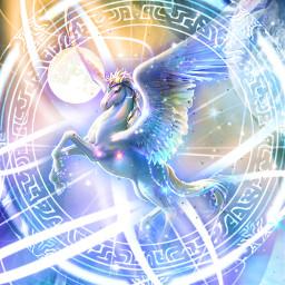 myedit myart fantasy fantasyart fantasticanimal unicornmagic unicorn galaxy galaxycircle fairy magic magical createdbyme makewithpicsart freetoedit