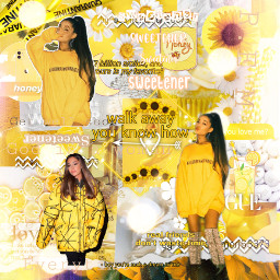 arianagrande yellow freetoedit