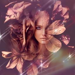 myedit superposition fantasy fantasyart flowers prism dream womanportrait createdbyme makewithpicsart freetoedit
