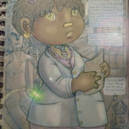 drawing pudding character cartoons cute girl