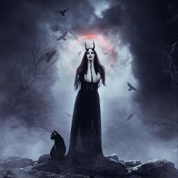 madewithpicsart darkness witch manipulation visualart picsart freetoedit __prince_creation__ 365world
