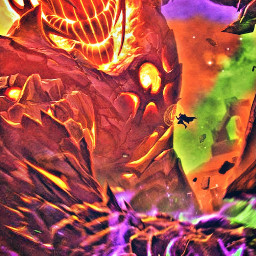 freetoedit madewithpicsart remixit marvel mcu doctorstrange dormammu wandavision multiverseofmadness benedictcumberbatch elizabetholsen colorful multiverse giant fire flames psychedelic