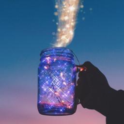 magic bottle magicinabottle sparkle photography art aesthetic freetoedit