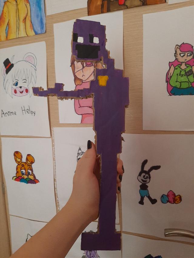 #fnaf8bit #8bit #fnaf #fivenightsatfreddys #purpleguy #dsaf3 #dsafdave #dave #art #draw #painting #fanart