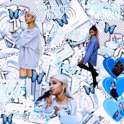 blue arianagrande freetoedit