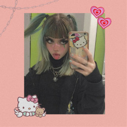 hellokitty pinkaesthetic aestheticpink aestheticfairy kitty girl egirl pink freetoedit