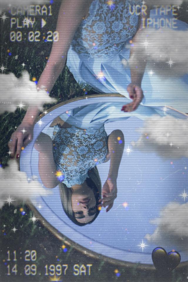 #remixit 😇          blue💙& yellow💛 #glitch #girl #freetoedit #remix #aesthetic #black #heart #blackheart #mirror #blackaesthetic #blue #yellow #iphone #emoji #iphoneemoji #iphonesticker #heartcrown #crown #cute #sweet #woman #clouds #sparkle #glitter